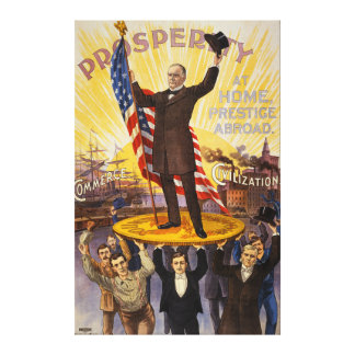 William McKinley Campaign Poster Gold Standard Gallery Wrap Canvas