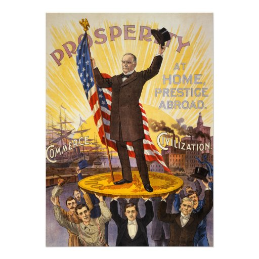 William McKinley Campaign Poster Gold Standard Custom Invites