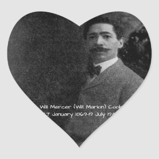 William Mercer (Will Marion) Cook Heart Sticker