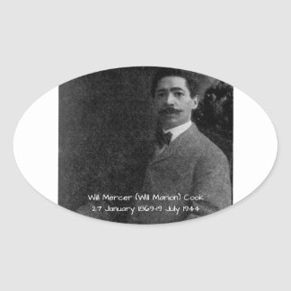 William Mercer (Will Marion) Cook Oval Sticker