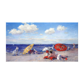 William Merritt Chase At the Seaside Canvas Print