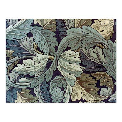 William Morris Acanthus Floral Wallpaper Design Post Card
