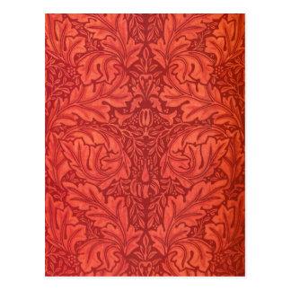 William Morris Acanthus For Velveteen Design Postcard
