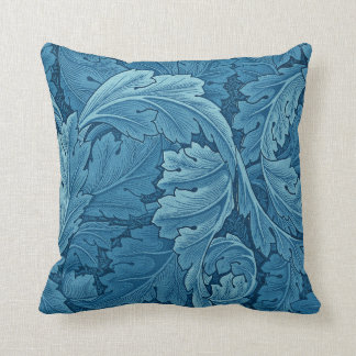 William Morris Acanthus in Blue Cushion