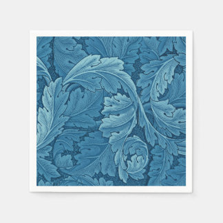 William Morris Acanthus Vintage Blue Disposable Napkins