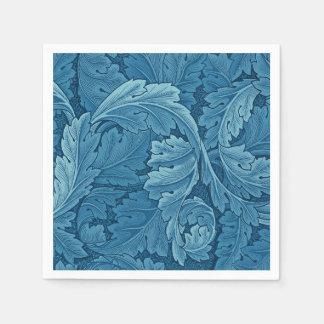 William Morris Acanthus Vintage Blue Disposable Serviette
