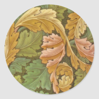 William Morris Acanthus Vintage Floral Classic Round Sticker