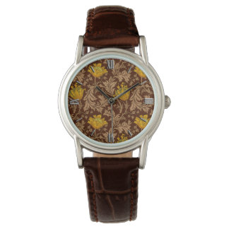 William Morris Anemone, Brown and Mustard Gold Watch