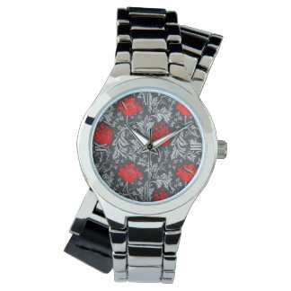 William Morris Anemone, Gray / Grey and Red Watch