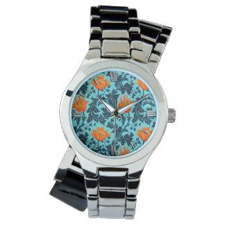 William Morris Anemone, Indigo Blue and Coral Watch