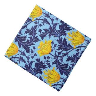 William Morris Anemone, Navy and Mustard Yellow Bandana