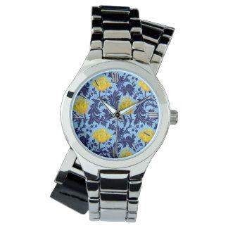 William Morris Anemone, Navy and Mustard Yellow Watch