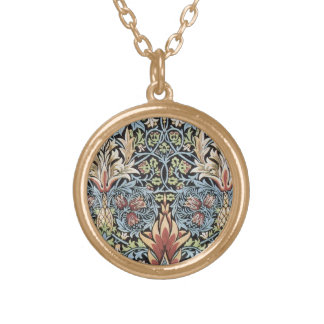 William Morris Art Gold Plated Necklace