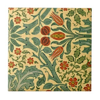 William Morris - Autumn Flower pattern Small Square Tile