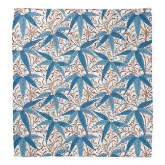 William Morris Bamboo Print, Denim Blue & White Bandana