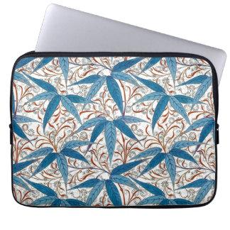 William Morris Bamboo Print, Denim Blue & White Laptop Sleeve