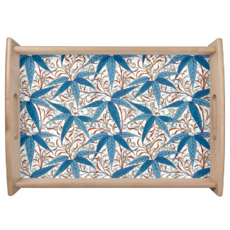 William Morris Bamboo Print, Denim Blue & White Serving Tray