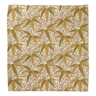 William Morris Bamboo Print, Gold and Cream Bandana