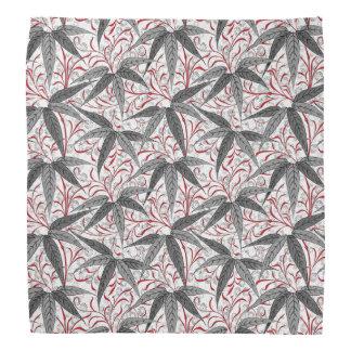 William Morris Bamboo Print, Gray and White Bandana