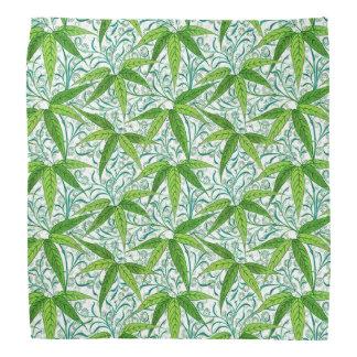 William Morris Bamboo Print, Green and White Bandana