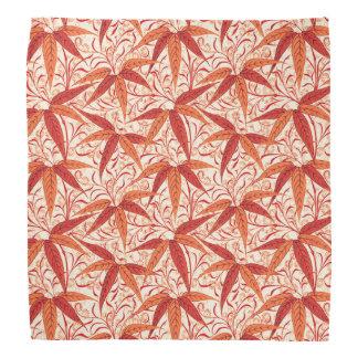 William Morris Bamboo Print, Mandarin Orange Bandana