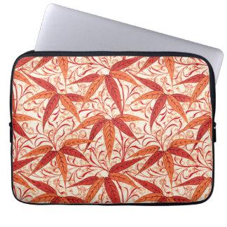 William Morris Bamboo Print, Mandarin Orange Laptop Sleeve