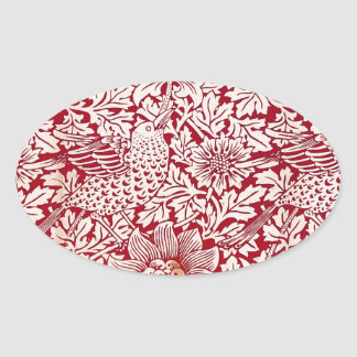 William Morris Bird and Anemone Oval Sticker