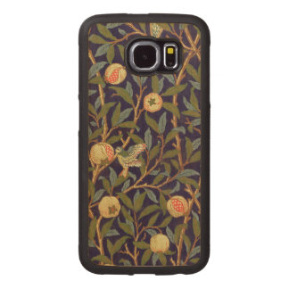 William Morris Bird And Pomegranate Vintage Floral Wood Phone Case
