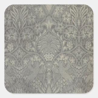 William Morris Bird and Vine Pattern Square Stickers
