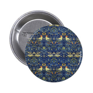 William Morris Bird Pattern 6 Cm Round Badge