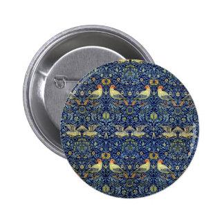 William Morris Bird Pattern Pinback Button