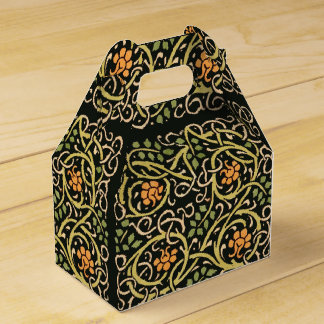 William Morris Black Floral Art Print Design Favour Box