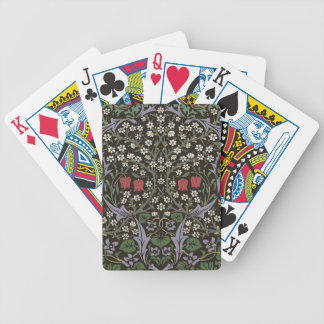 William Morris Blackthorn Tapestry Art Print Bicycle Playing Cards