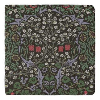 William Morris Blackthorn Tapestry Art Print Trivet