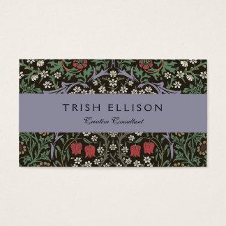 William Morris Blackthorn Tapestry Vintage Floral Business Card