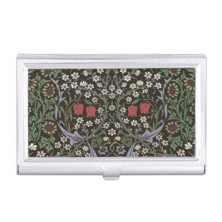 William Morris Blackthorn Tapestry Vintage Floral Business Card Holder