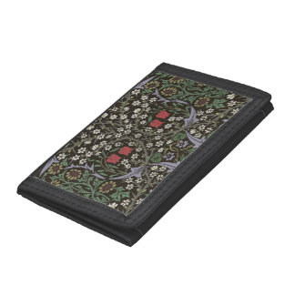 William Morris Blackthorn Tapestry Vintage Floral Tri-fold Wallets