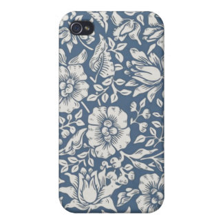 William Morris Blue Damask iPhone 4/4S Case