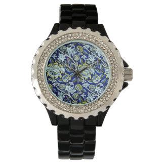 William Morris Blue Floral Pattern Watch