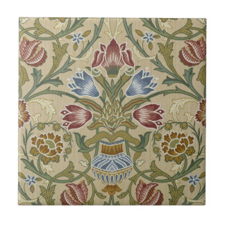 William Morris Brocade Floral Pattern Small Square Tile