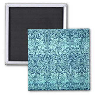 William Morris Brother Rabbit Pattern in Blue Fridge Magnet