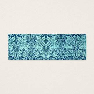 William Morris Brother Rabbit Pattern in Blue Mini Business Card