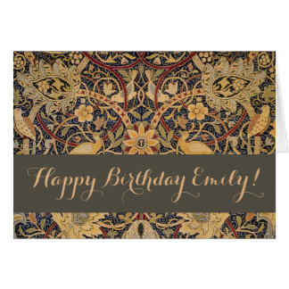 William Morris Bullerswood Custom Happy Birthday Card
