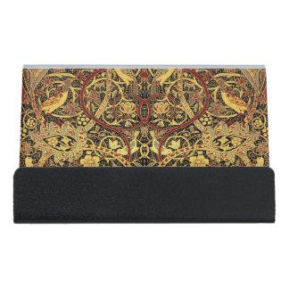 William Morris Bullerswood Tapestry Floral Art Desk Business Card Holder