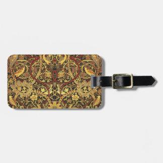 William Morris Bullerswood Tapestry Floral Art Luggage Tag