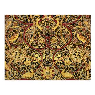 William Morris Bullerswood Tapestry Floral Art Postcard