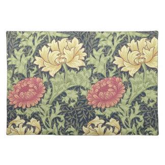 William Morris Chrysanthemum Vintage Floral Art Place Mat