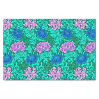 William Morris Chrysanthemums, Aqua and Violet Tissue Paper
