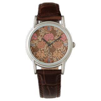 William Morris Chrysanthemums, Brown and Rust Watch