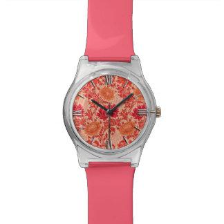 William Morris Chrysanthemums, Coral Orange Watch